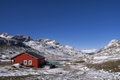 Red painted house Bernina Pass - PhotoDune Item for Sale