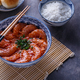 Shrimps in spicy tomato sauce, asian style, copyspace. - PhotoDune Item for Sale