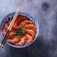 Bowl of shrimps in spicy tomato sauce, singaporean cuisine, copyspace - PhotoDune Item for Sale