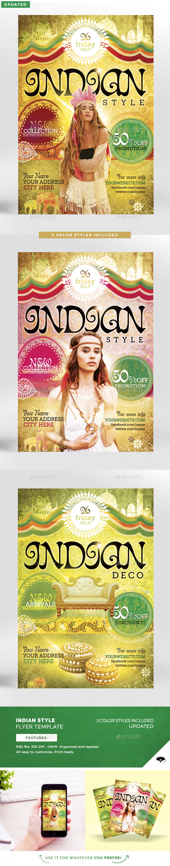 Indian Style Flyer Template - Clubs & Parties Events