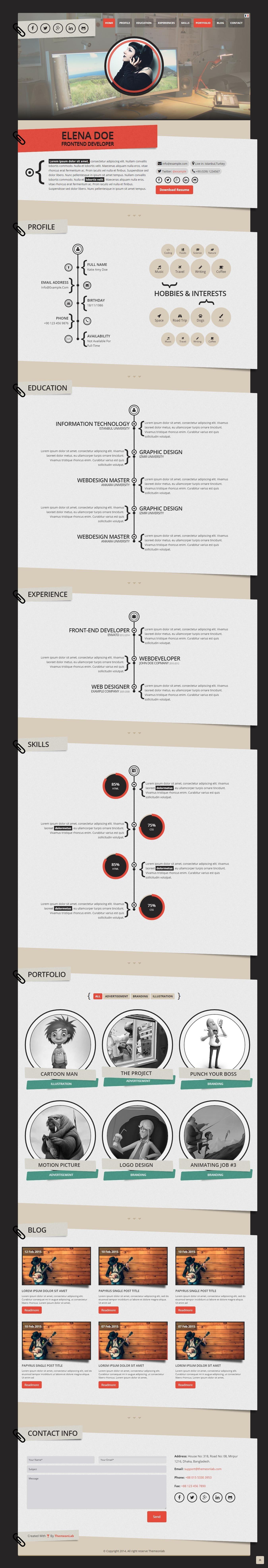 Papyrus    Personal Portfolio WordPress Theme