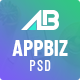 Appbiz- Creative app landing PSD Template - ThemeForest Item for Sale