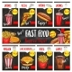 Vector Fast Food Menu Price Cards Templates Set - GraphicRiver Item for Sale
