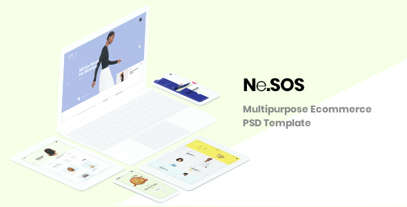 NeSos - Multipurpose Ecommerce PSD Template - Shopping Retail