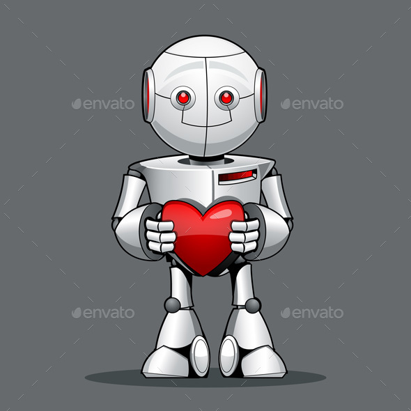 Kid Robot with a Heart in Hand - Computers Technology