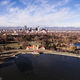 Aerial View over Lake Ferril in City Park of Denver Colorado - PhotoDune Item for Sale