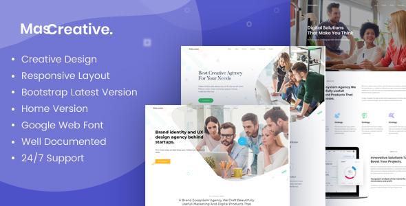 MasCreative - Creative Agency HTML Template - Creative Site Templates