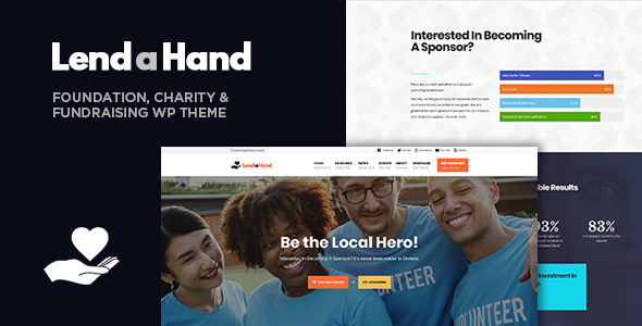 Lend a Hand - Foundation & Charity WordPress Theme - Charity Nonprofit