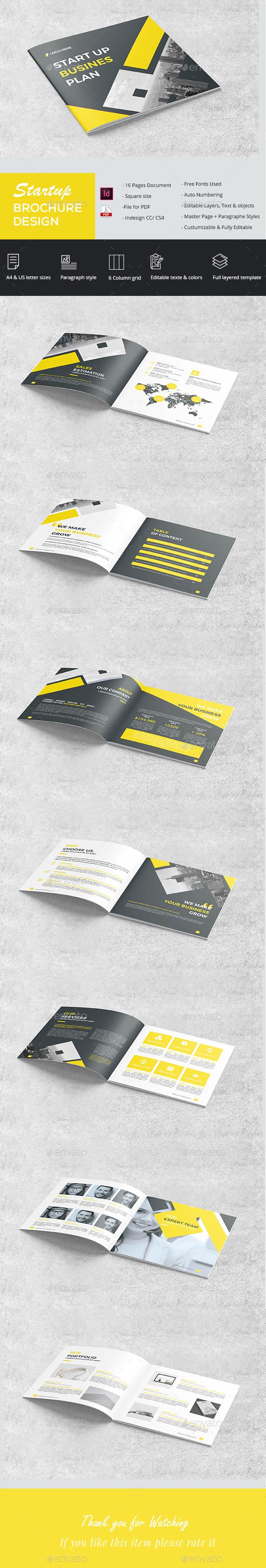 Square Company Brochure - Brochures Print Templates