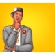 Vector Pop Art Rap Hip-hop Male Character - GraphicRiver Item for Sale