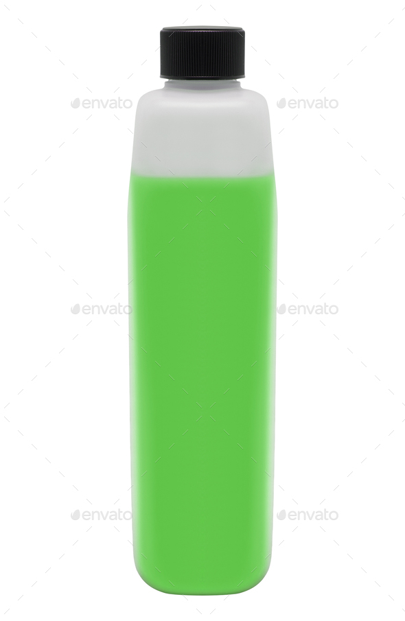 Green Bottle of Cleaning Product - Stock Photo - Images