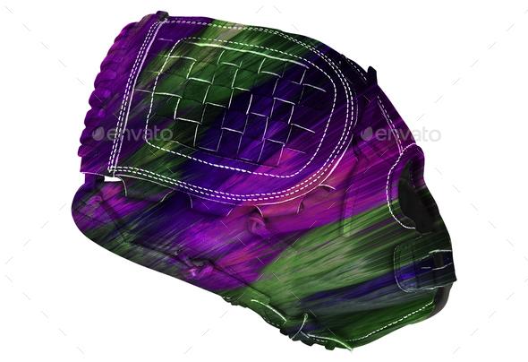 baseball glove isolated on white - Stock Photo - Images