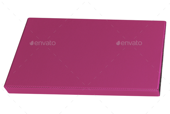 purple binder isolated on white - Stock Photo - Images