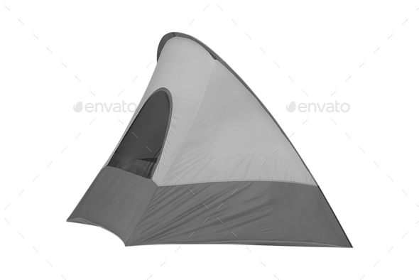 Tent isolated on white - Stock Photo - Images