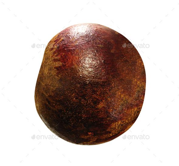 fresh mangosteen isolated on white - Stock Photo - Images