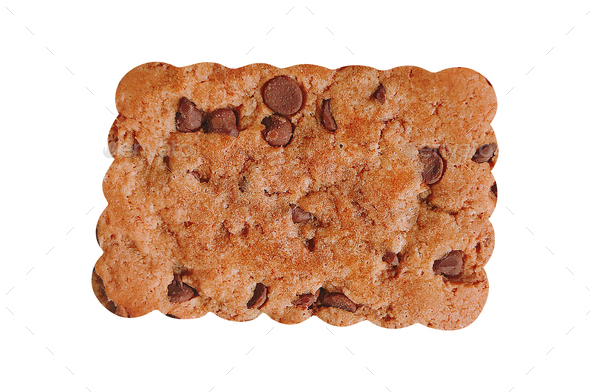 cookie isolated on white - Stock Photo - Images