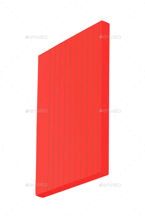 red post-it notes isolated on white background - Stock Photo - Images