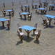 Tables on the beach  - PhotoDune Item for Sale