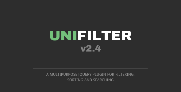 UniFilter  - Multipurpose jQuery Plugin for Filtering, Sorting & Searching