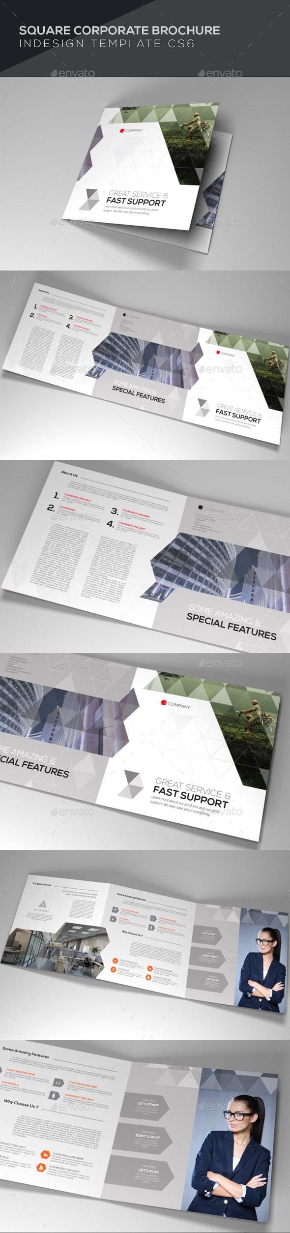 Square Corporate Brochure - Brochures Print Templates