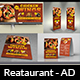 Restaurant Advertising Bundle Vol.18 - GraphicRiver Item for Sale