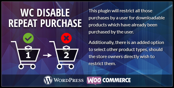 Woocommerce Disable Repeat Purchase (Miscellaneous)