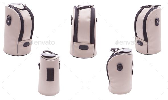 Camera bag on white background isolated - Stock Photo - Images