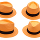 orange hat on white background isolated - PhotoDune Item for Sale