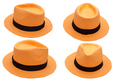 orange hat on white background isolated - PhotoDune Item for Sale