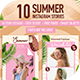 10 SUMMER Instagram Stories - GraphicRiver Item for Sale