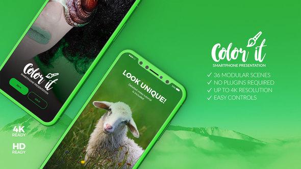 Videohive Color it - 3D Smartphone Presentation 22328414 - Free Download