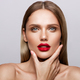 Beautiful young model with red lips - PhotoDune Item for Sale