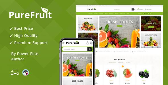 Purefruit - Responsive Prestashop 1.7 Theme