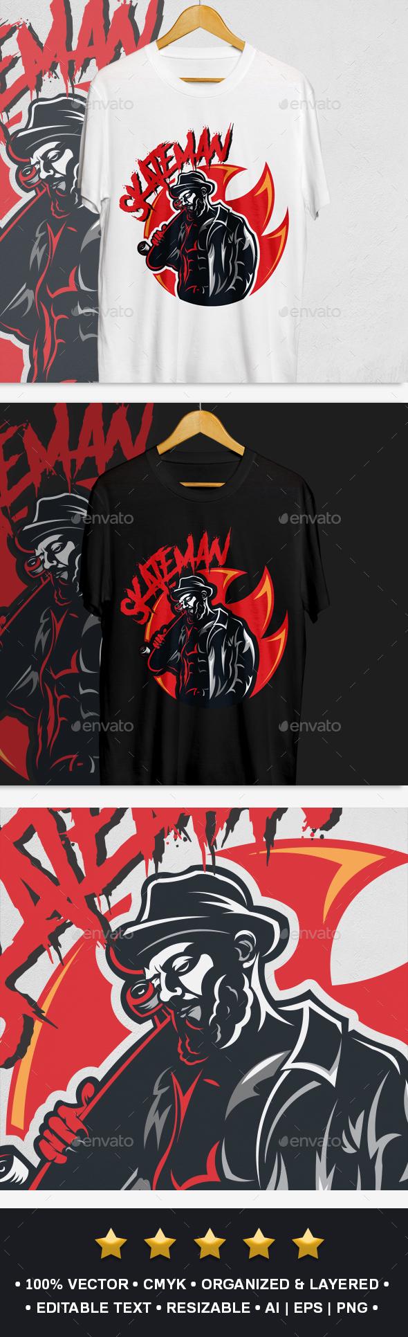 Skateboarder T-Shirt Design - Designs T-Shirts
