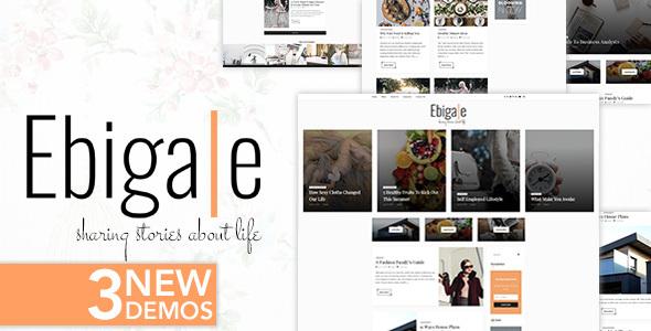 Ebigale -  Modern WordPress Blog Theme