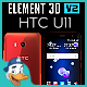 HTC U11 for Element 3D - 3DOcean Item for Sale