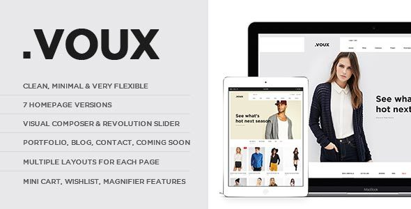 Voux Fashion Shopping Theme - WooCommerce eCommerce