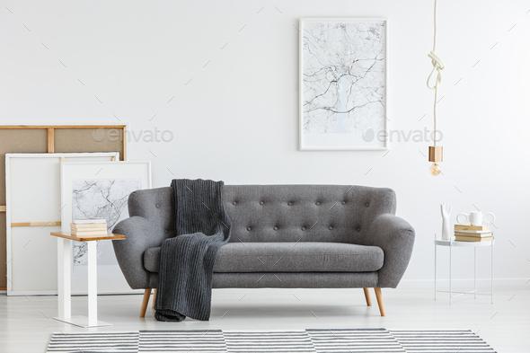 Scandi living room interior - Stock Photo - Images
