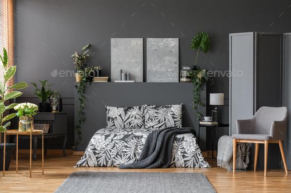Modern armchair in elegant bedroom - Stock Photo - Images