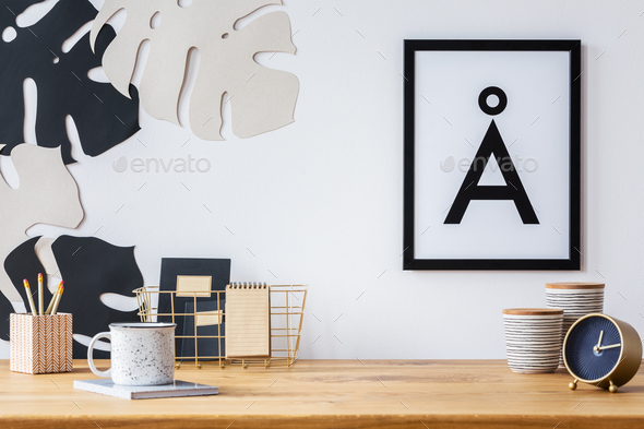 Desk and wall decoration - Stock Photo - Images