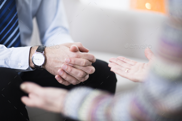 Male hands with elegant watch - Stock Photo - Images