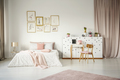 Pink pastel bedroom interior - PhotoDune Item for Sale
