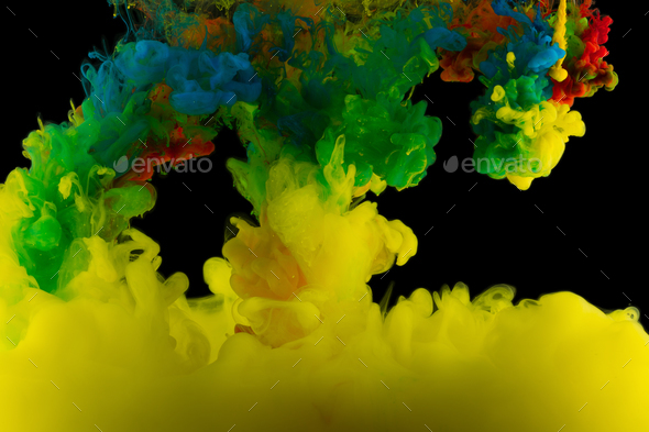 Color abstraction on a black background - Stock Photo - Images