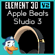 Apple Beats Studio 3 for Element 3D - 3DOcean Item for Sale