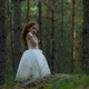 Little girl walks in a summer forest in a dress - PhotoDune Item for Sale