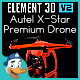 Autel X-Star Premium Drone for Element 3D - 3DOcean Item for Sale