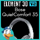 Bose QuietComfort 35 for Element 3D - 3DOcean Item for Sale