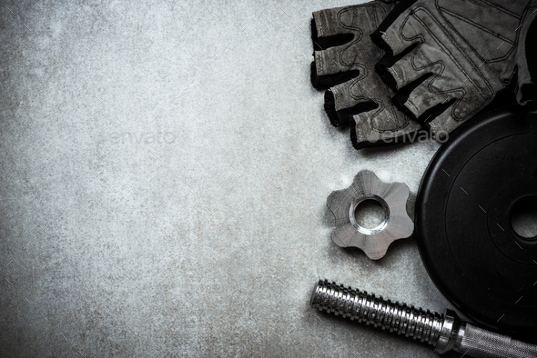 Items related to gym and training - Stock Photo - Images