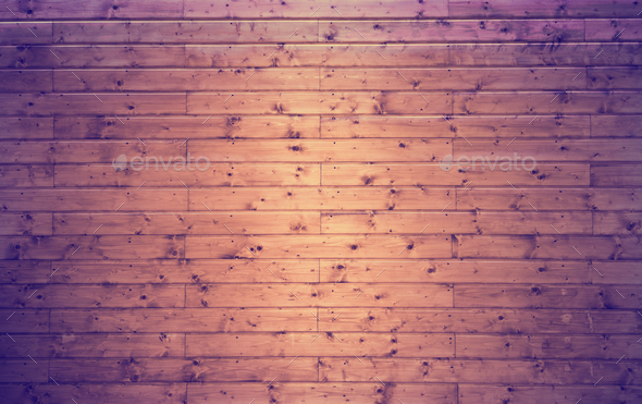 Colorful lighting over wooden wall background - Stock Photo - Images
