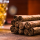 Cuban cigars on wooden table, close up detail - PhotoDune Item for Sale
